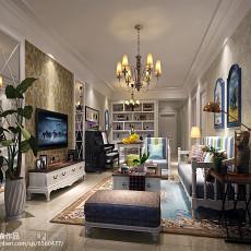 精选二居客厅美式实景图