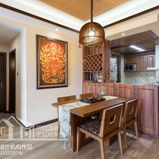 东南亚风格100平米两室两厅装修图片欣赏大全