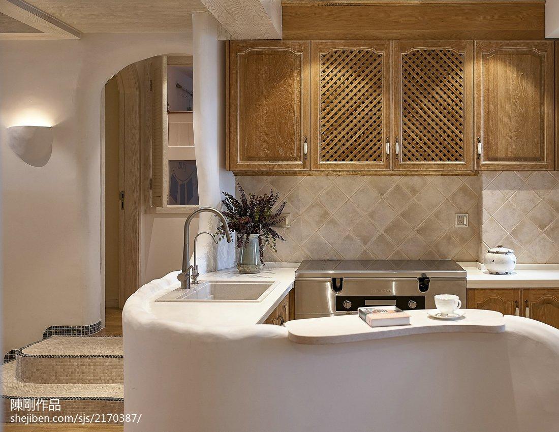 质朴91平地中海三居厨房设计图