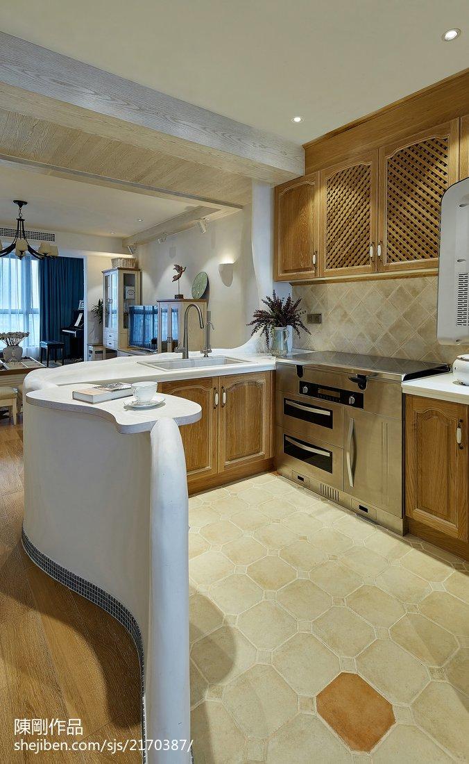 质朴91平地中海三居厨房设计美图