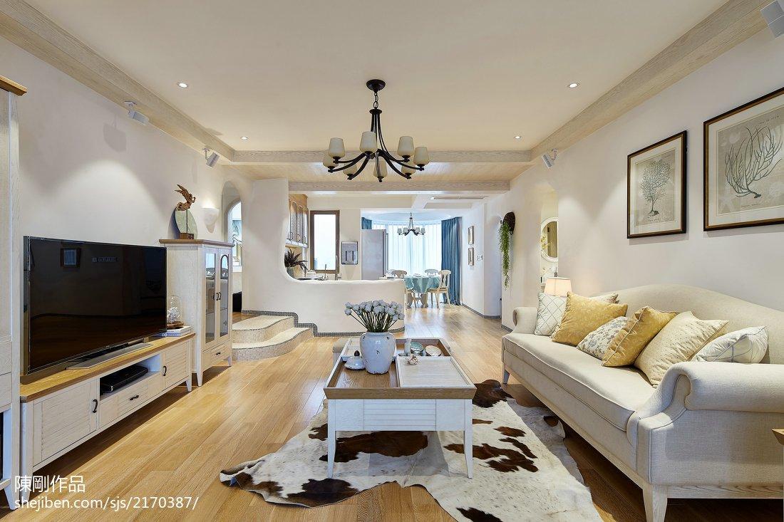 温馨160平地中海三居客厅装修美图