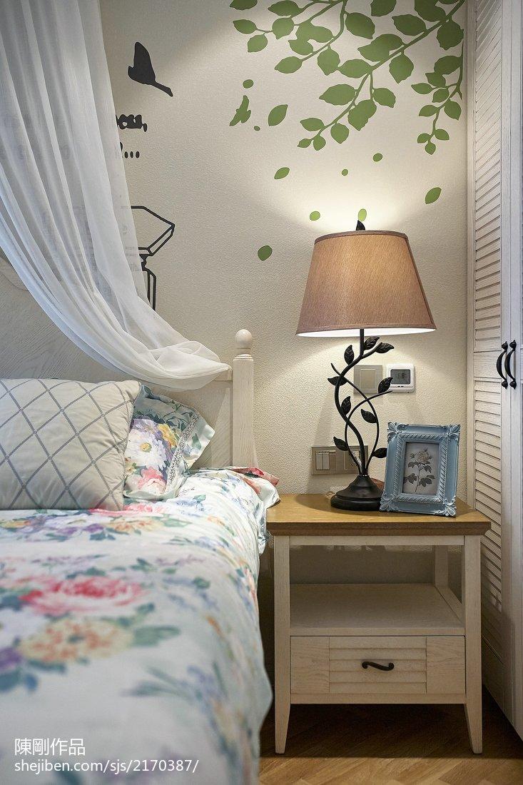 典雅103平地中海三居卧室装修装饰图
