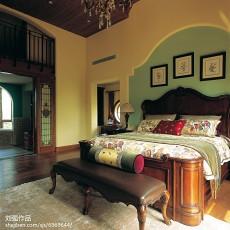 面积121平别墅卧室混搭实景图片