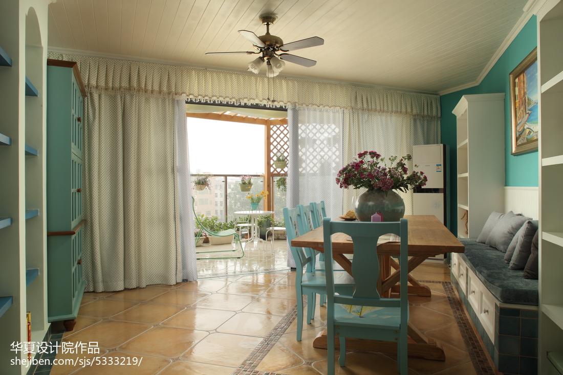 面积112平别墅餐厅地中海效果图片大全