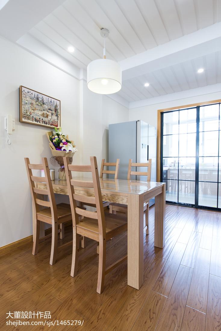 热门76平米二居餐厅宜家装修实景图片欣赏