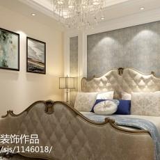 热门面积78平欧式二居卧室装修欣赏图