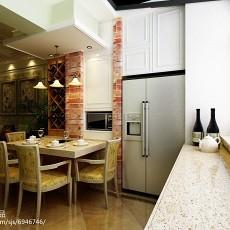 精美77平米二居餐厅美式装修实景图
