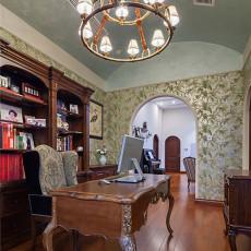 热门美式别墅书房欣赏图片