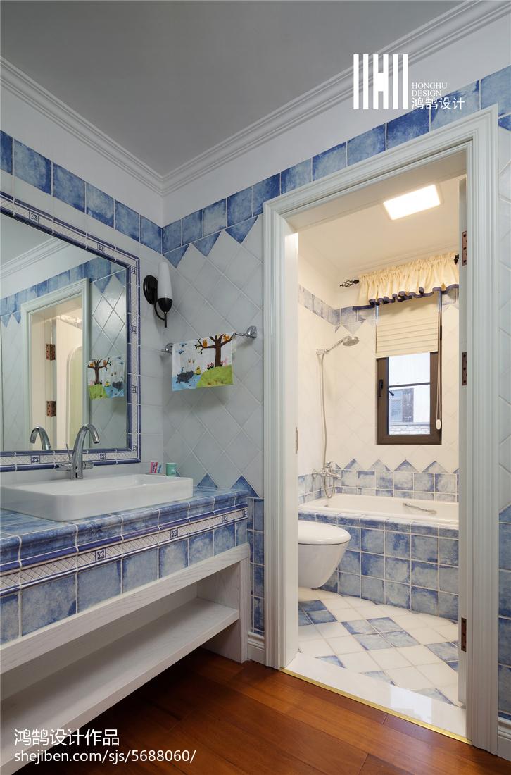 家装美式风格卫浴装饰图