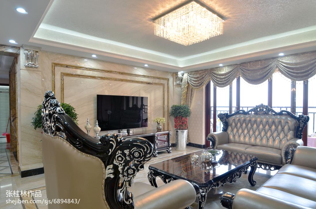 精选140平米四居客厅新古典装修图片大全