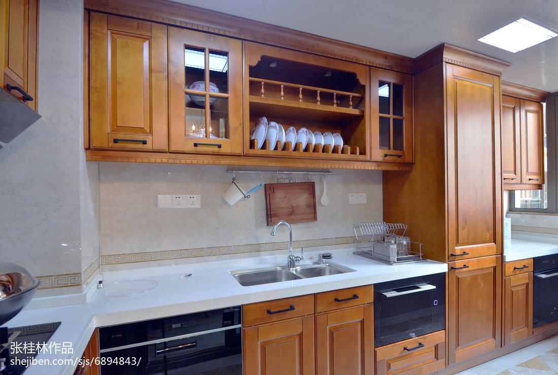 精选面积140平新古典四居厨房欣赏图片