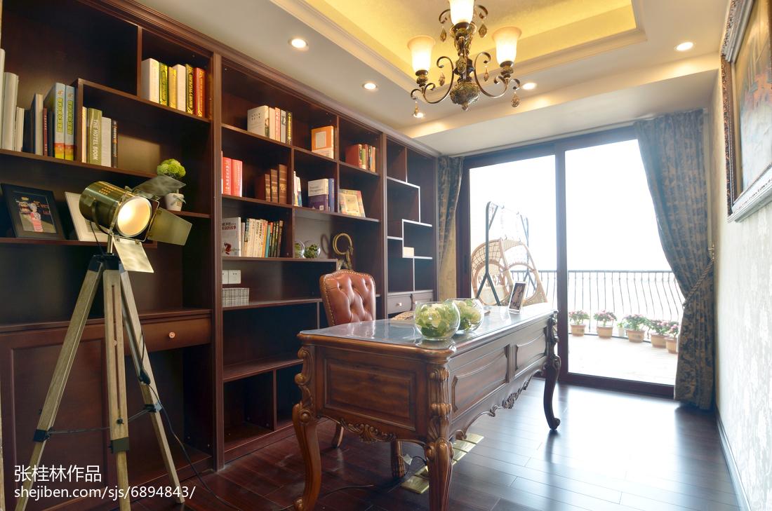 热门面积139平新古典四居书房装修效果图片欣赏