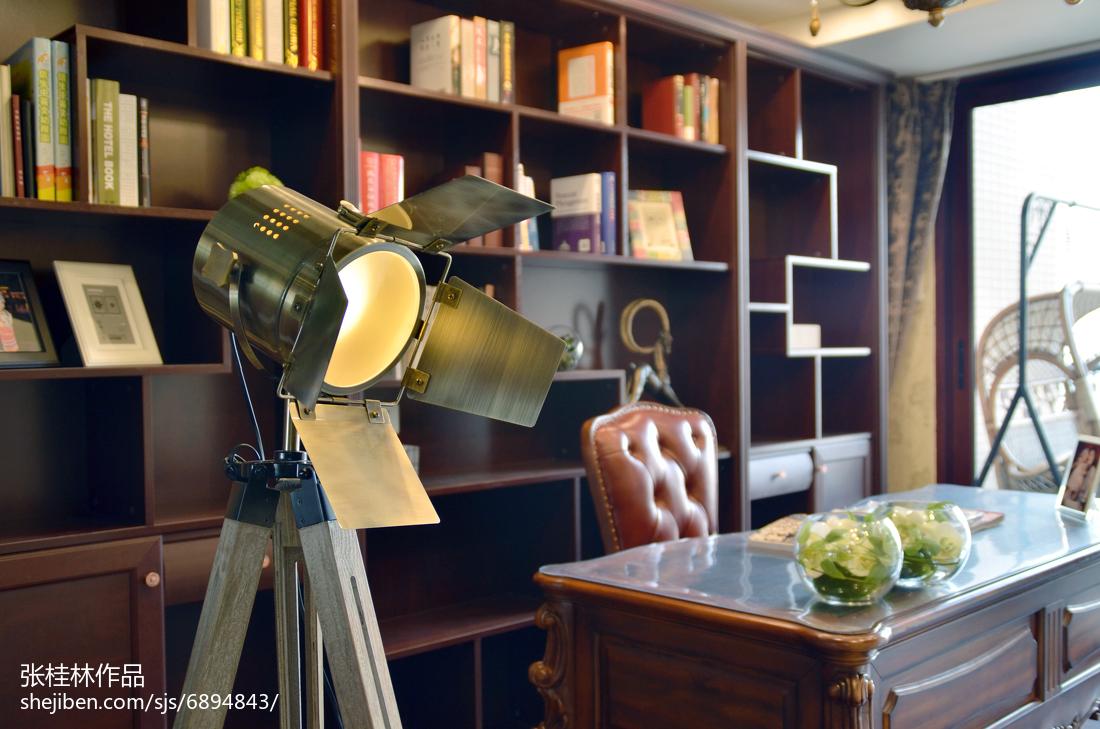 精美118平米四居书房新古典装修图片欣赏