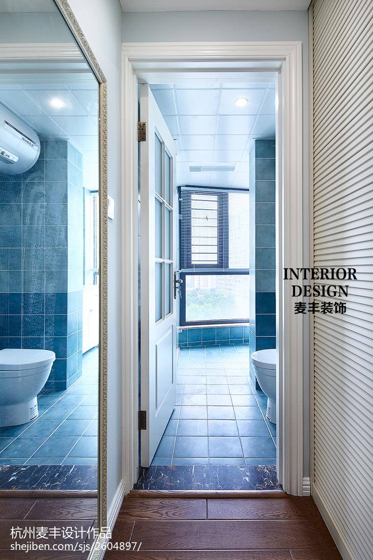 精选面积107平美式三居卫生间装修图片欣赏