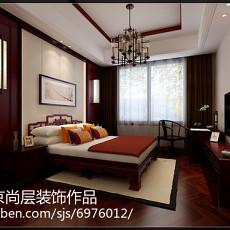 面积138平别墅卧室中式装修设计效果图片大全