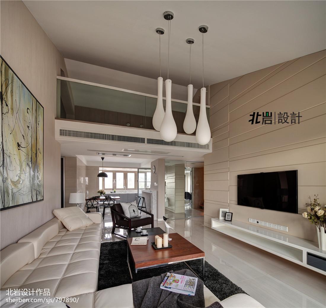 2018面积114平复式客厅现代装饰图片