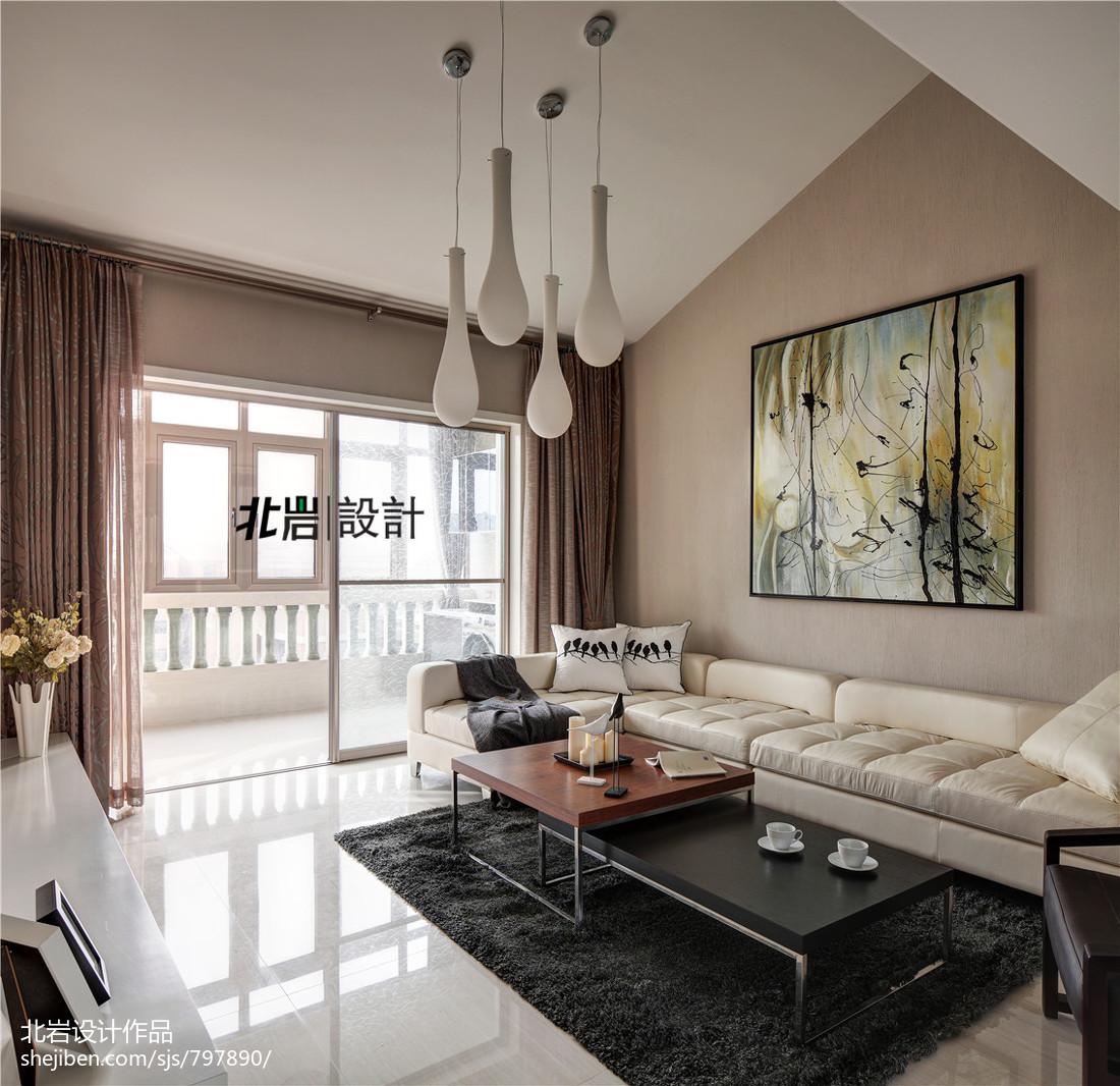热门118平米现代复式客厅装修欣赏图片大全