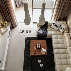 精选面积112平复式客厅现代装饰图片大全