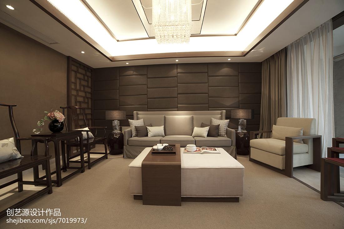 精选面积100平中式三居客厅装修设计效果图片大全