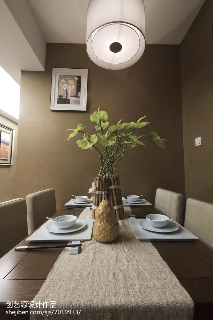 精美面积96平中式三居餐厅欣赏图片