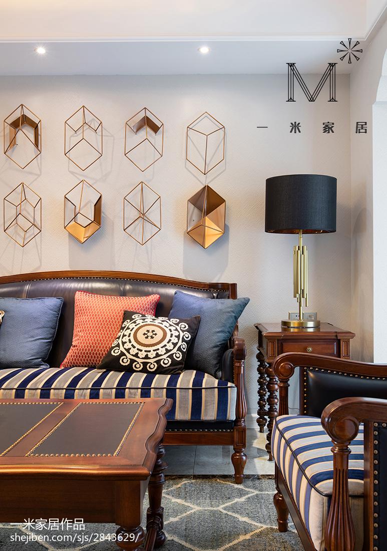 精美100平方三居客厅美式装修设计效果图片