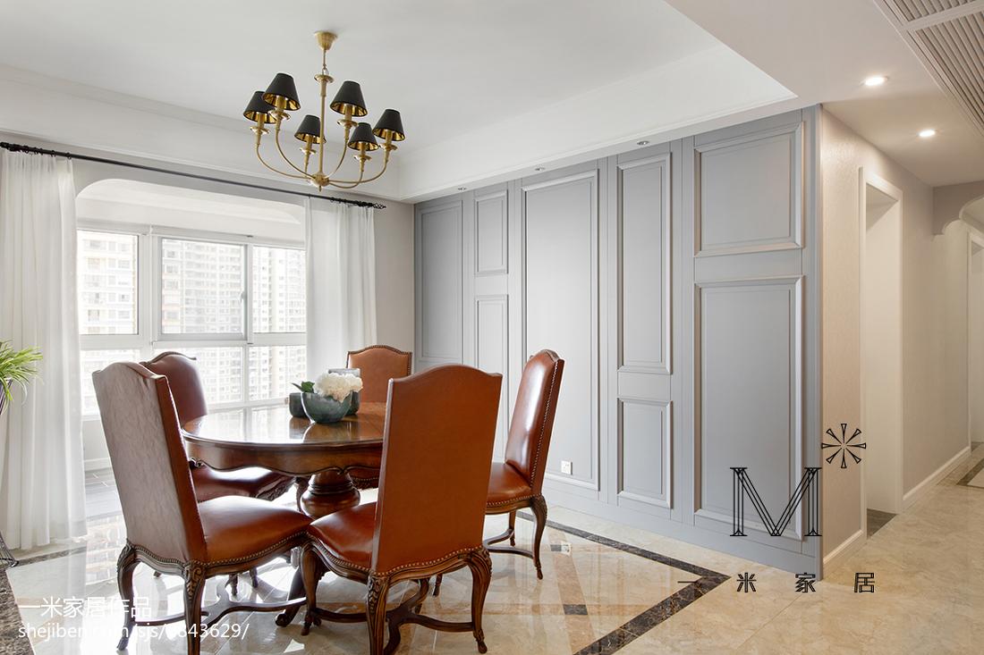 精选106平方三居餐厅美式装修设计效果图片大全