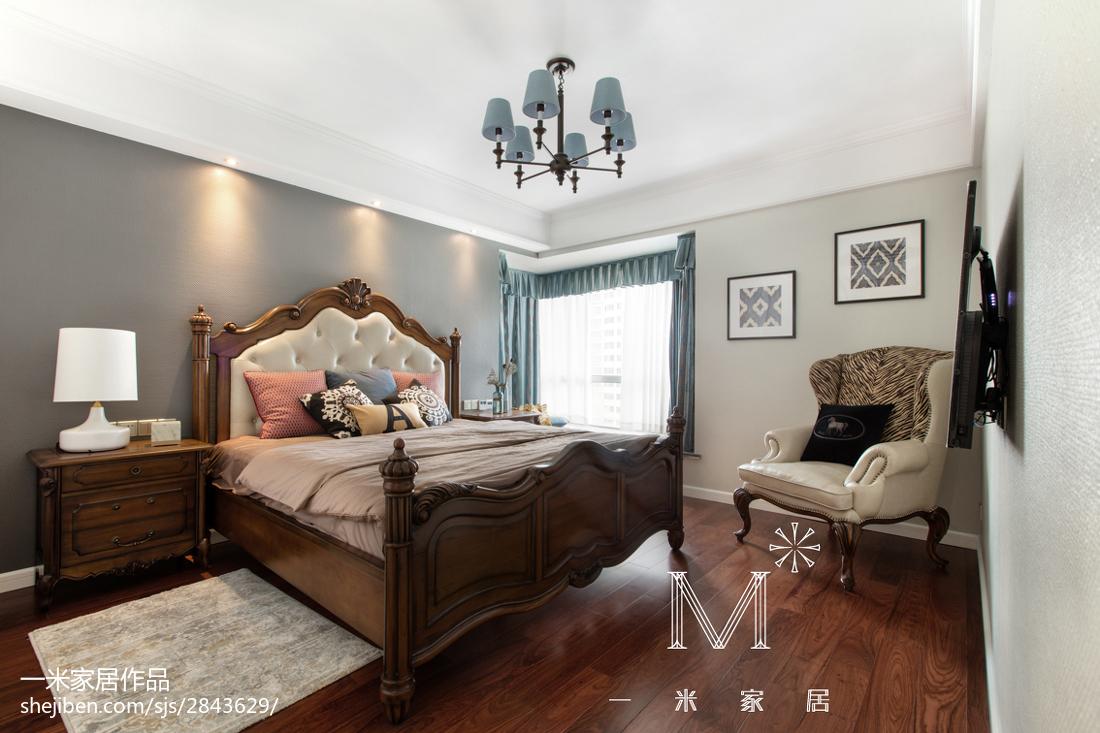 轻奢111平美式三居装修案例