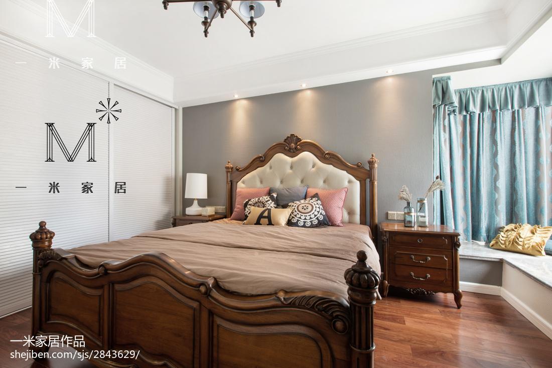 休闲美式风格卧室装饰图