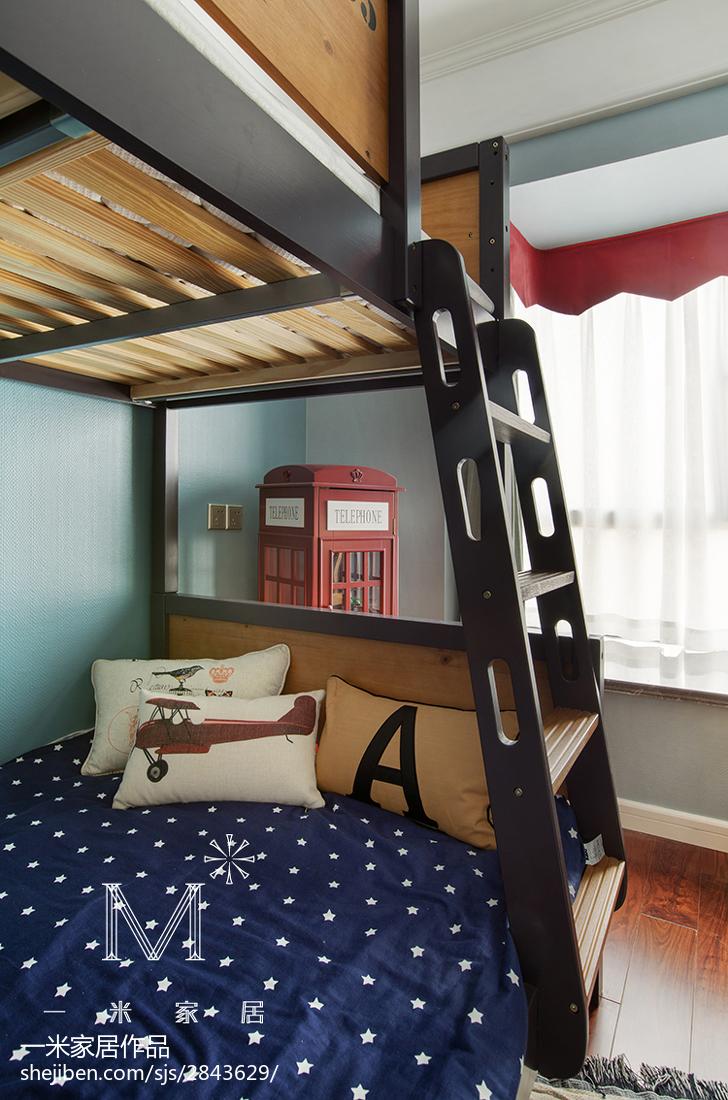 精美面积107平美式三居儿童房装修图片