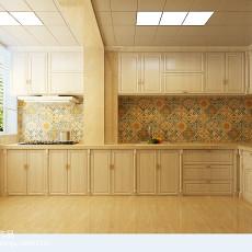 面积102平欧式三居厨房效果图片