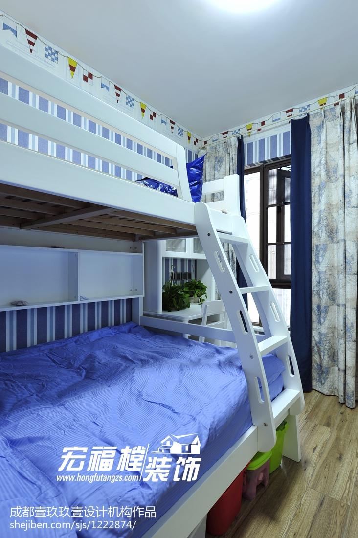 精选73平米二居儿童房现代欣赏图片