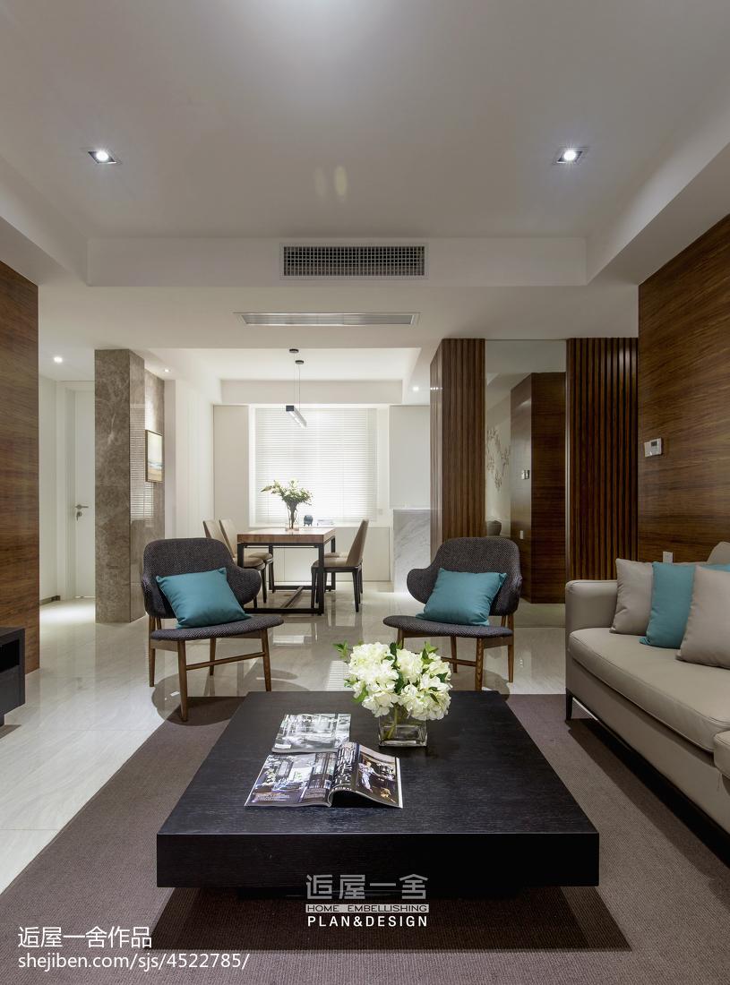 华丽83平现代三居客厅实拍图