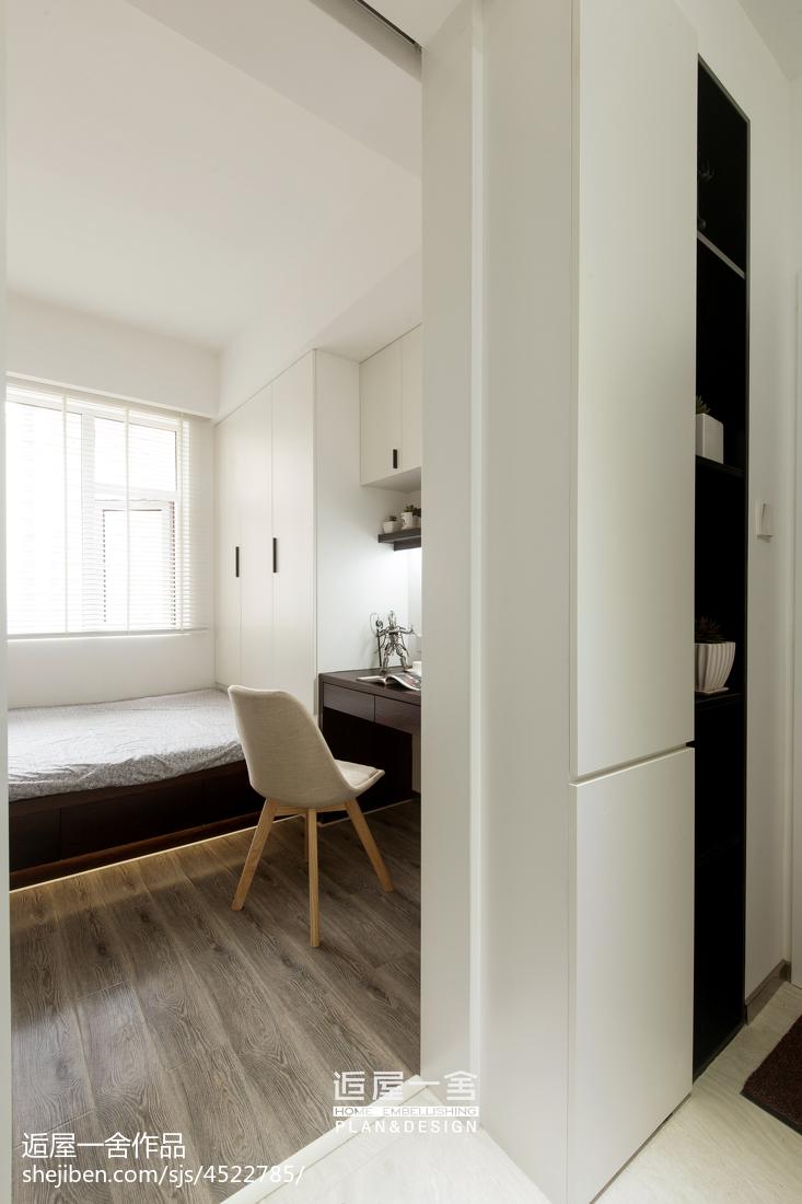 优美114平现代三居卧室装饰图