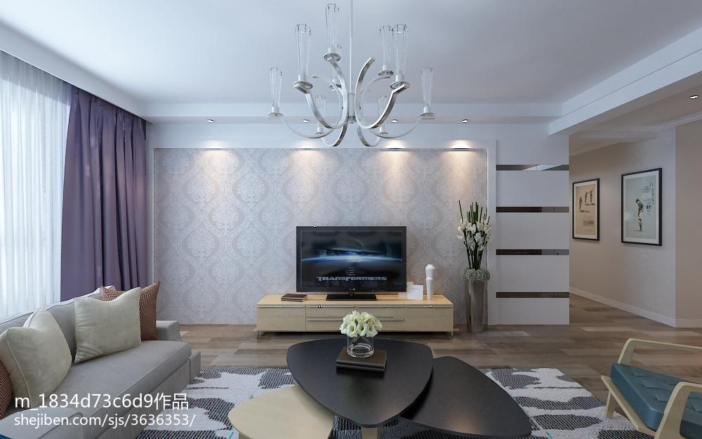 混搭风格三室两厅装饰效果图大全