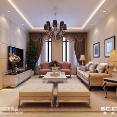 精美面积98平欧式三居客厅欣赏图