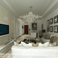 精美74平方二居客厅现代装修图片大全