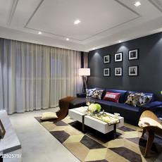 2018106平米三居客厅现代实景图片欣赏