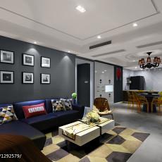 热门101平客厅三居现代装修设计效果图片