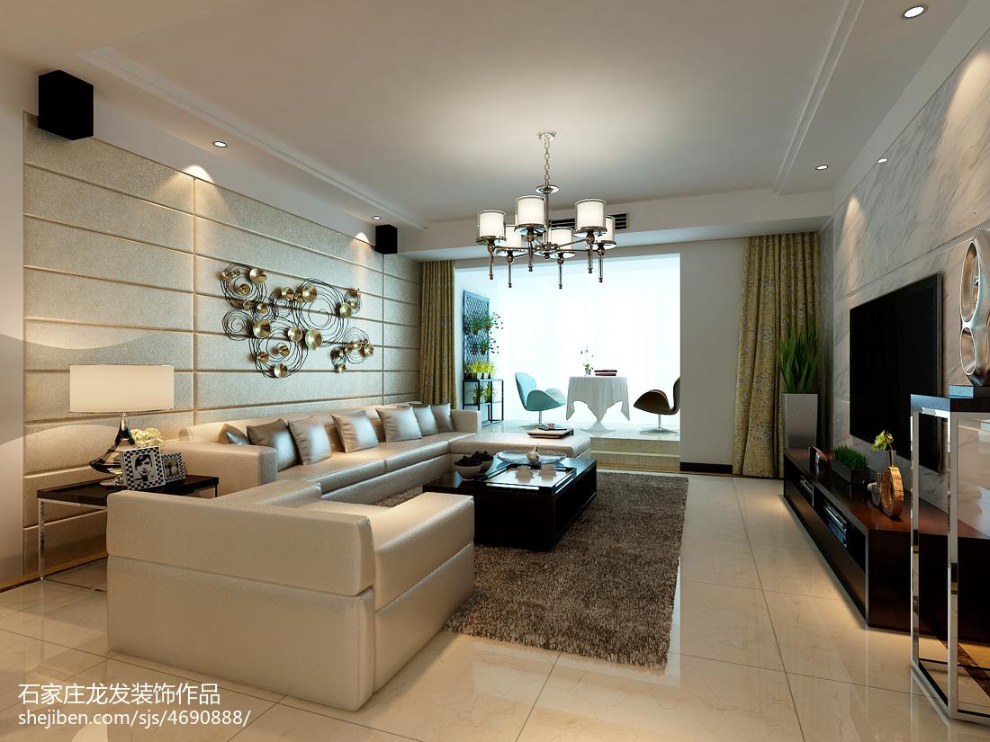 客厅改卧室效果图_现代简约客厅布置效果图大全-土巴兔装修效果图
