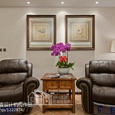 热门面积71平美式二居客厅效果图片欣赏
