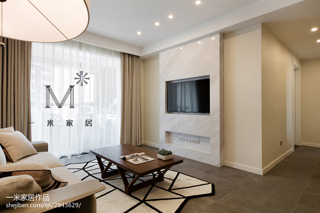 201970平现代二居装修图