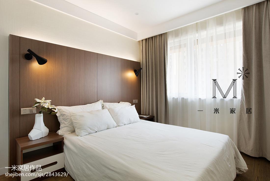 优雅53平现代二居卧室案例图