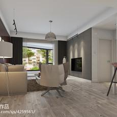 面积79平现代二居客厅装修设计效果图