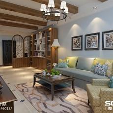89平米二居客厅欧式装修设计效果图