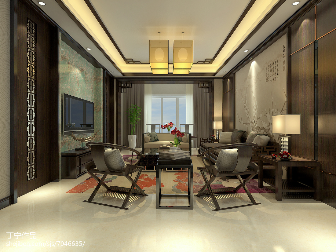 现代沙发效果