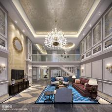 精美126平米欧式别墅客厅效果图片大全