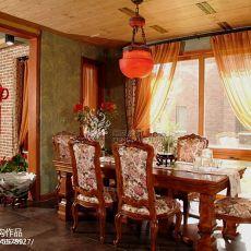 热门116平米美式别墅餐厅实景图片大全