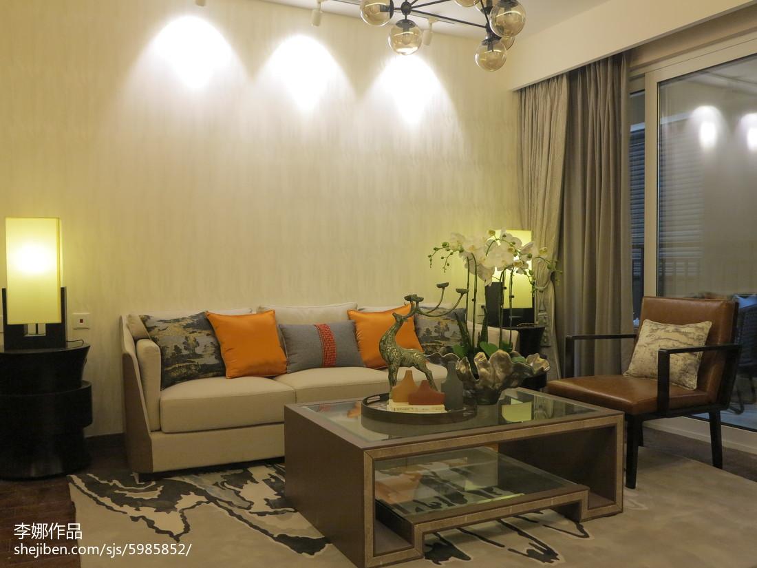 精美大小97平中式三居客厅效果图片欣赏