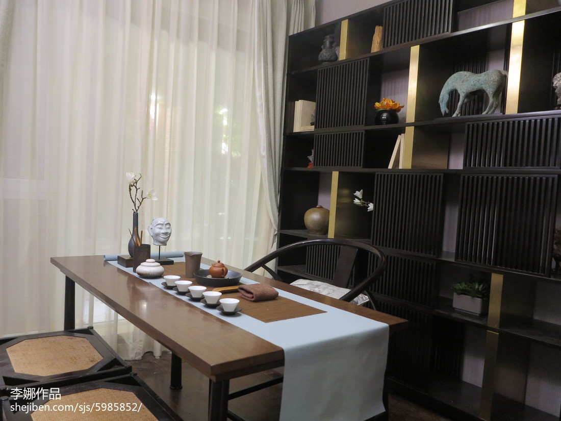 精美中式三居书房装修实景图
