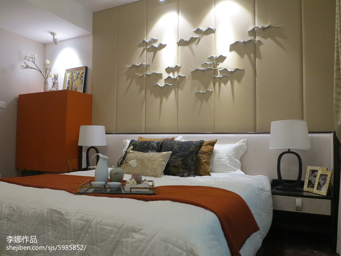精选面积98平中式三居卧室装修欣赏图片大全